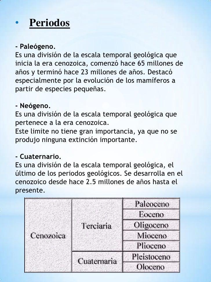 Eras Geologicas Cenozoica la Era Cenozoica