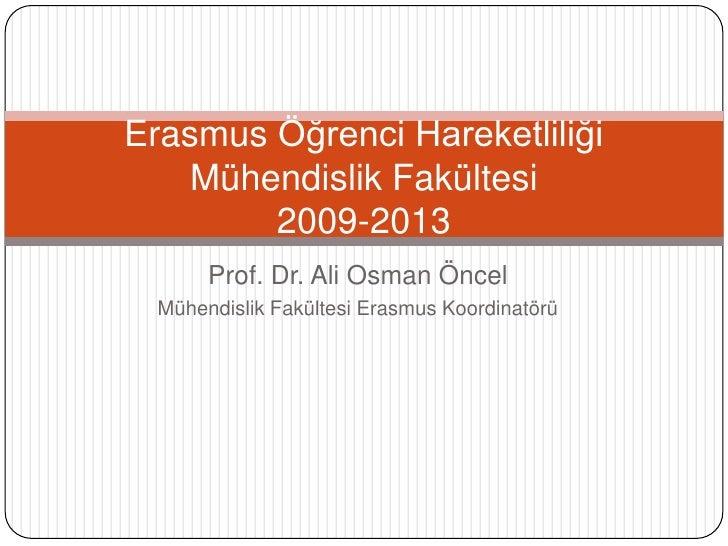 Prof. Dr. Ali Osman Öncel<br />Mühendislik Fakültesi Erasmus Koordinatörü<br />Erasmus Öğrenci HareketliliğiMühendislik Fa...