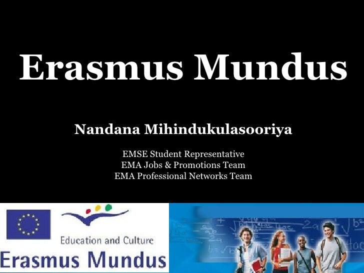Erasmus Mundus Masters Courses (EMMCs)