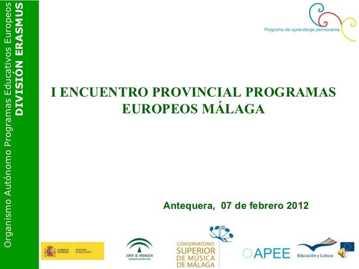 Organismo Autónomo Programas Educativos Europeos                                               DIVISIÓN ERASMUS           ...