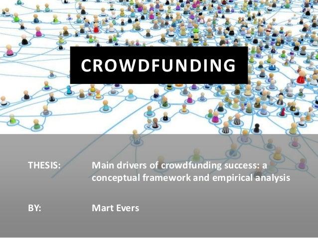 Main drivers of crowdfunding success
