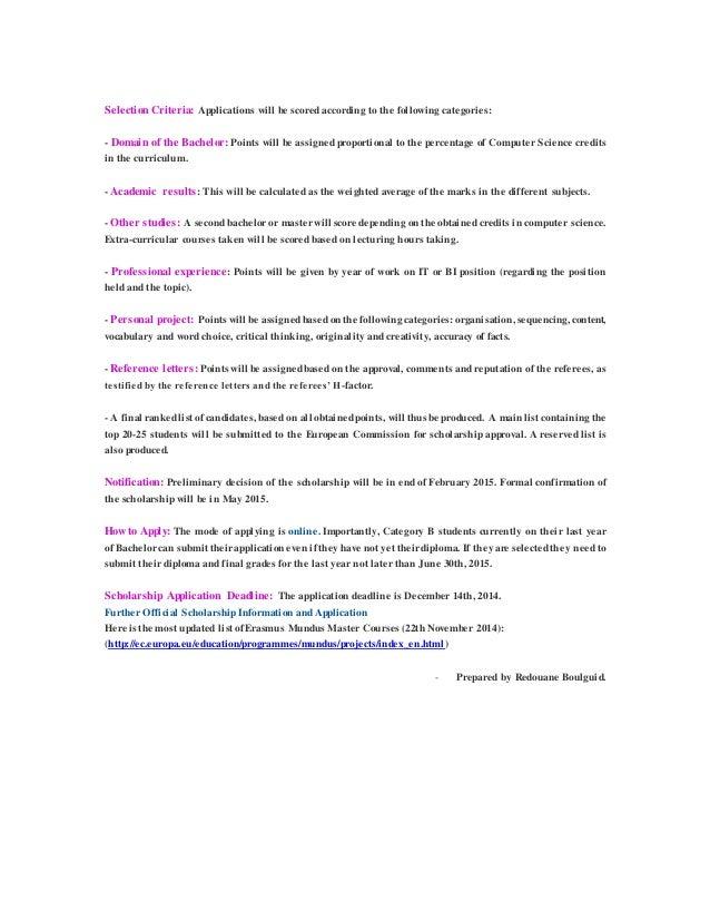 erasmus mundus masters scholarship
