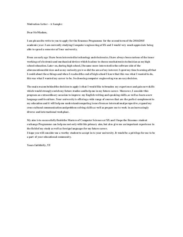 Neurasmus scholarship essay