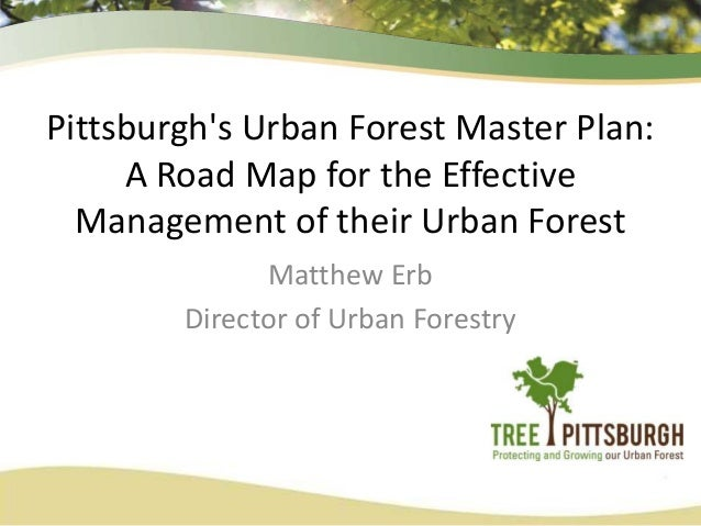 Pittsburgh's Urban Forest Master Plan: A Road Map for the Effective Management of their Urban Forest Matthew Erb Director ...