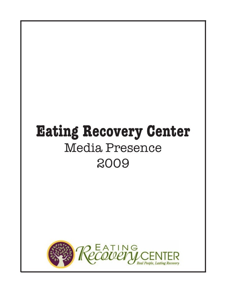 Eating Recovery Center 2009 Clipbook
