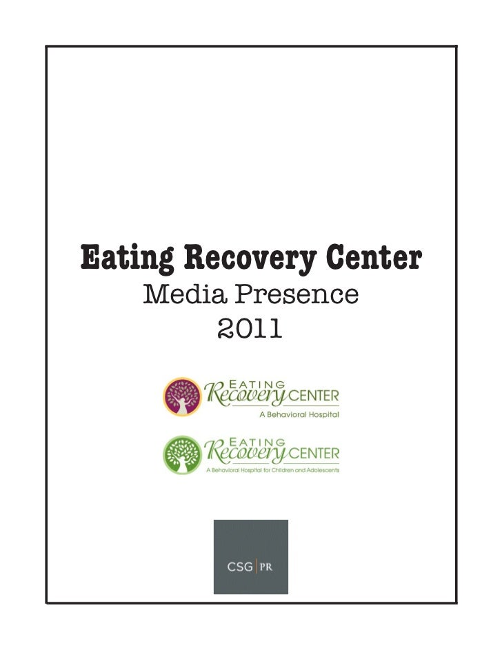 Eating Recovery Center 2011 Clipbook