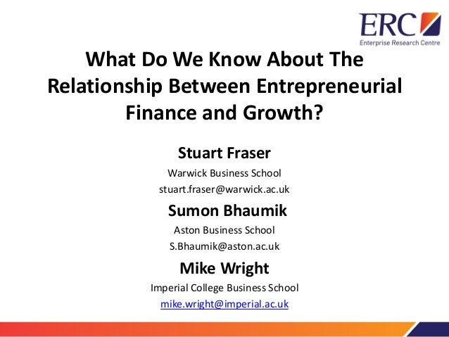 Finance as a driver and constraint on different types of growth - Stuart Fraser, Sumon Bhaumik and Mike Wright