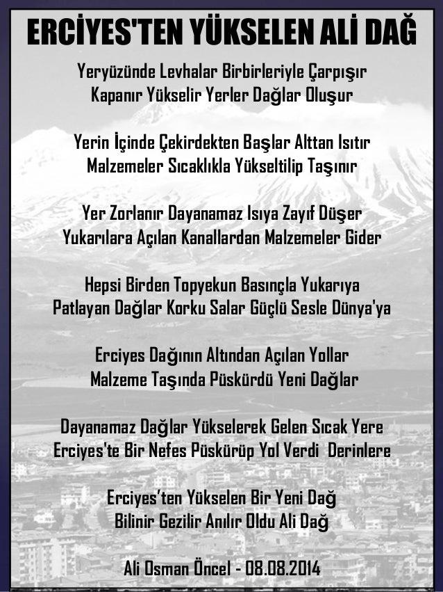 Erciyes'ten Bir Dağ Yükseldi