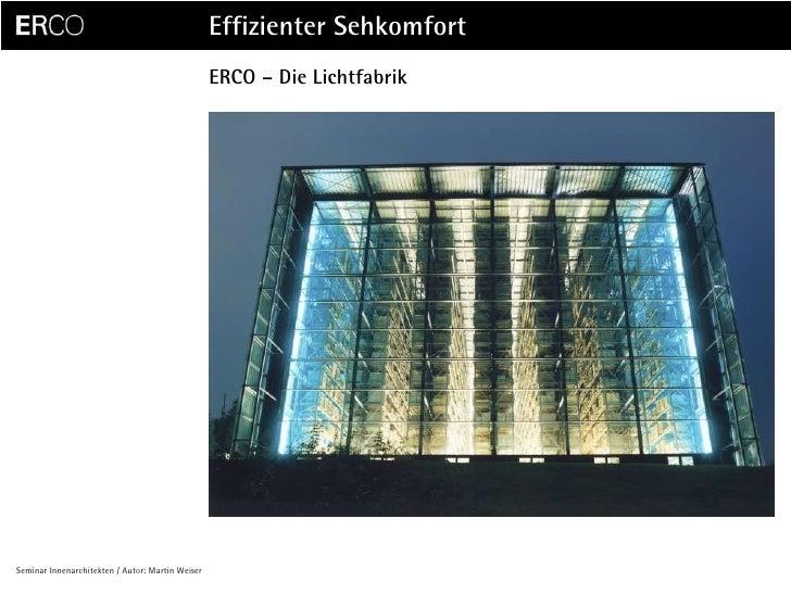 ERCO – Die Lichtfabrik
