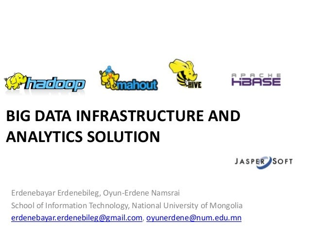 Big Data Infrastructure and Analytics Solution on FITAT2013