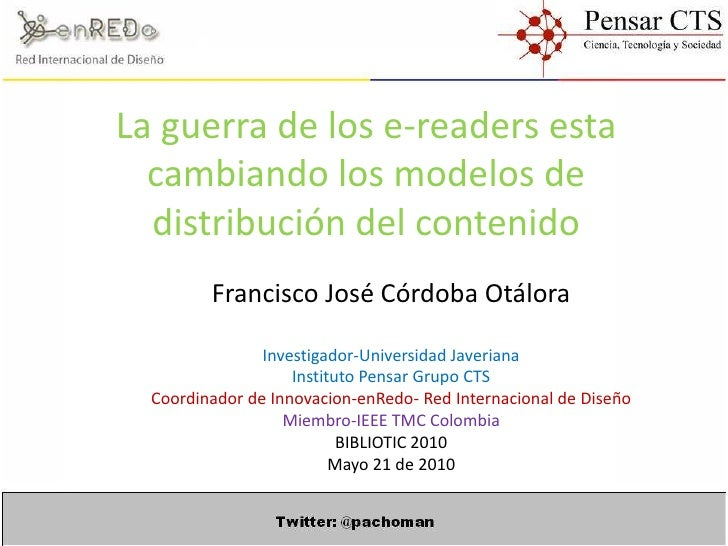 E readers, francisco cordoba