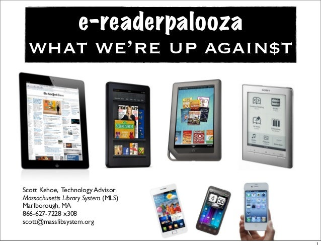 E-Readers, E-Books, and Libraries: What we're up against ...