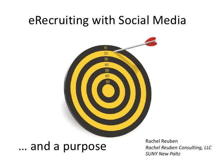 eRecruiting with Social Media<br />… and a purpose<br />Rachel Reuben<br />Rachel Reuben Consulting, LLC<br />SUNY New Pal...