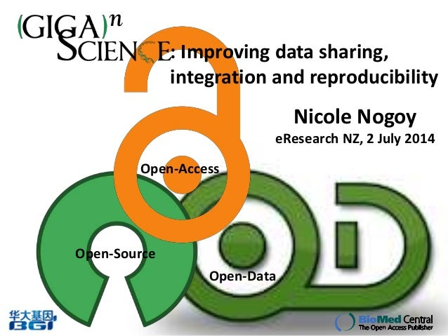 Nicole Nogoy's talk at eResearchNZ 2014: Improving data sharing, integration and reproducibility