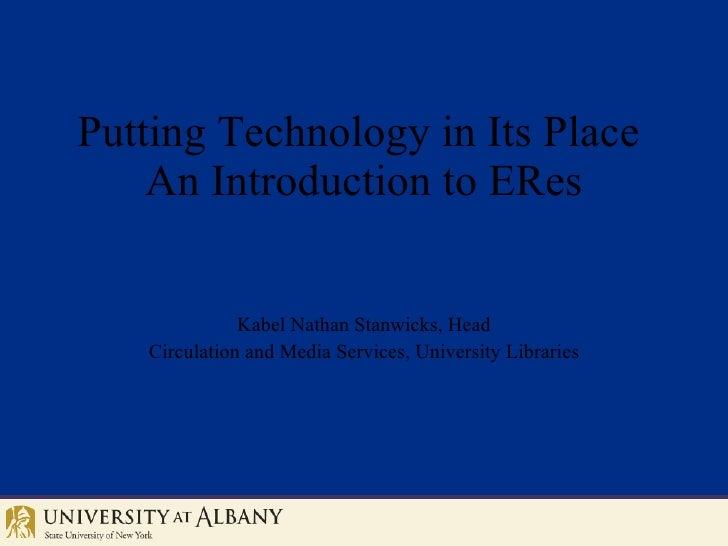 Eres Itlal Tech Week Presentation April2008