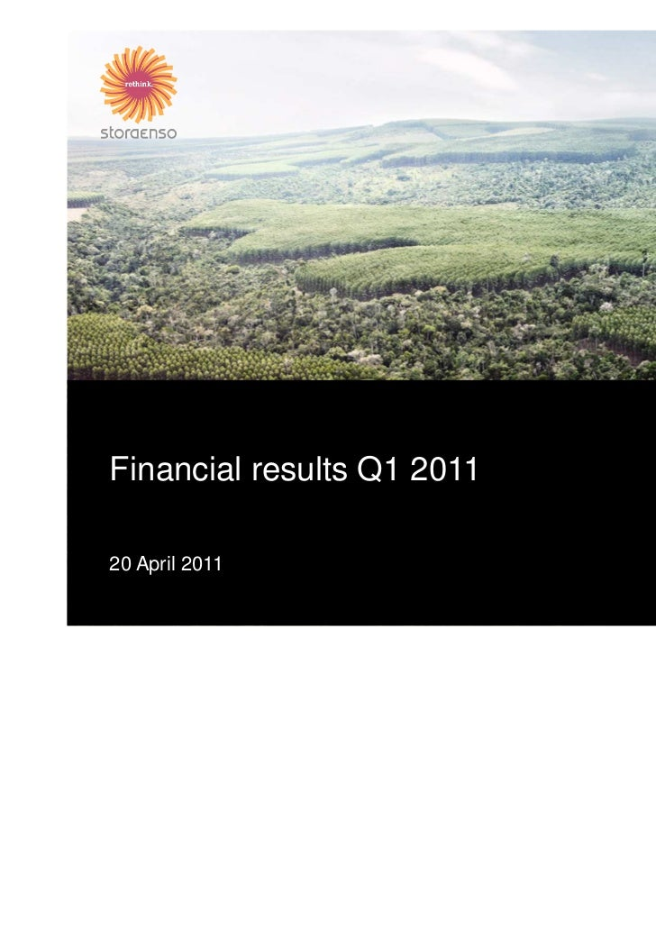 Financial results Q1 201120 April 2011