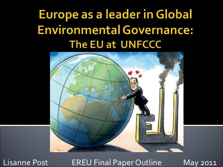 Ereu   eu as a global environmental leader