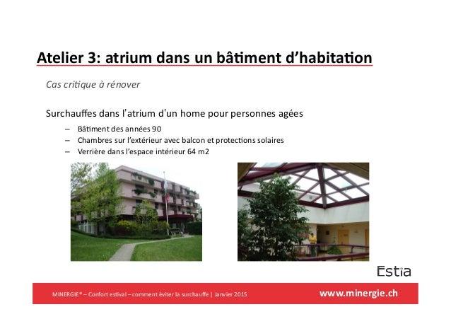 www.minergie.ch   Atelier  3:  atrium  dans  un  bâ7ment  d'habita7on   Cas  cri(que  à  rénover  ...