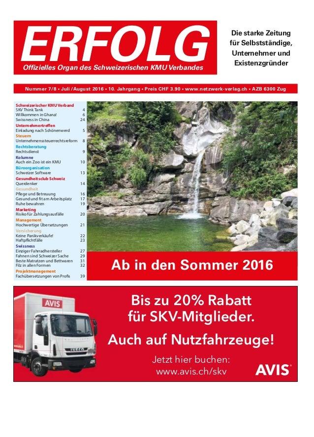 Schweizerischer KMU Verband SKV Think Tank4 Willkommen in Ghana! 6 Swissness in China 24 Unternehmertreffen Einladung n...