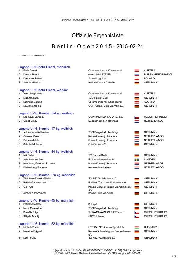 Offizielle Ergebnisliste / B e r l i n - O p e n 2 0 1 5 - 2015-02-21 (c)sportdata GmbH & Co KG 2000-2015(2015-02-21 20:59...