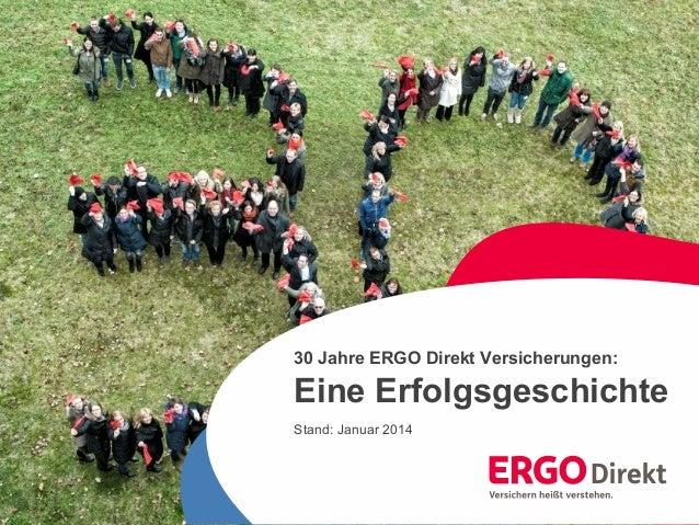 1  30 Jahre ERGO Direkt Versicherungen – eine Erfolgsgeschichte  30 Jahre ERGO Direkt Versicherungen:  Eine Erfolgsgeschic...