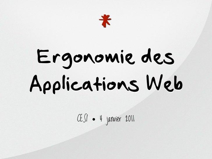 Ergonomie des applications web
