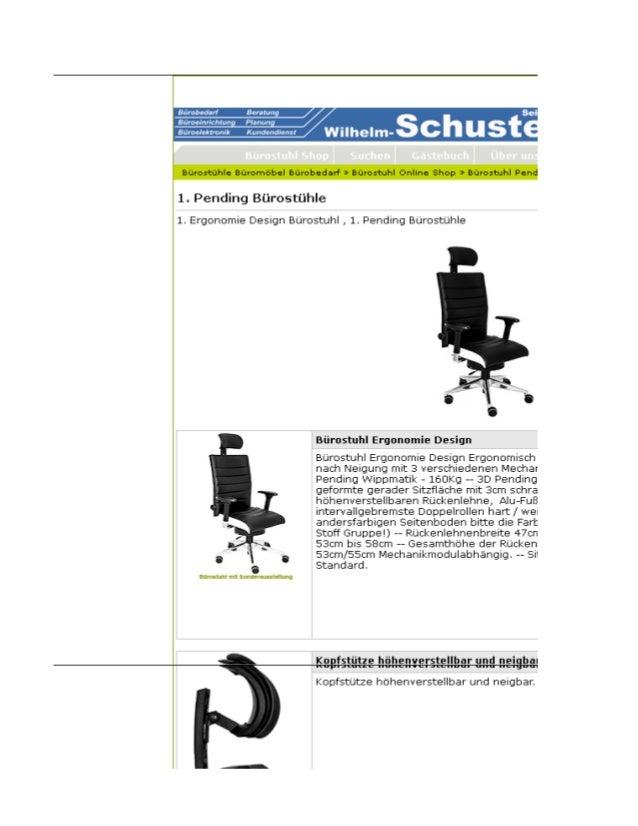 Ergonomie Design Bürostuhl, Pending Bürostühle