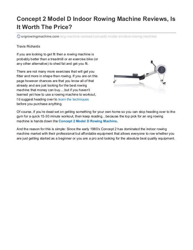 concept 2 model d rowing machine reviews