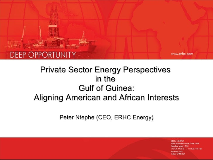 ERHC Energy Presents at Congressional Briefing on Gulf of Guinea