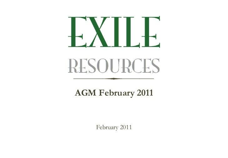 AGM February 2011 <ul><li>February 2011 </li></ul>