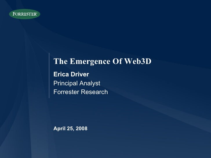 The emergence of Web3D
