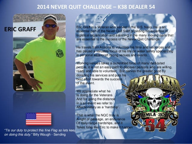 Eric Graff - 2014 Never Quit Challenge Staff