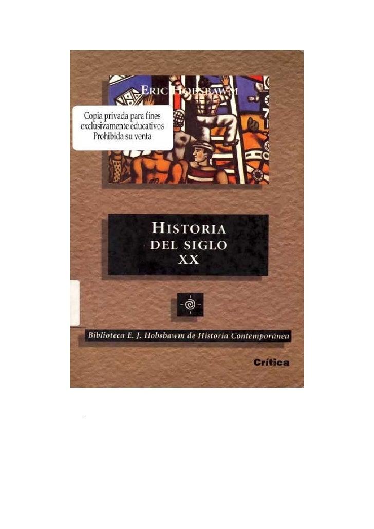 Eric hobsbawm   historia del siglo xx