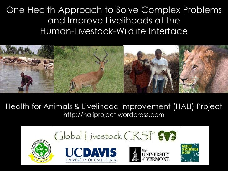 One Health Approach to Solve Complex Problems and Improve Livelihoods at theHuman-Livestock-Wildlife Interface