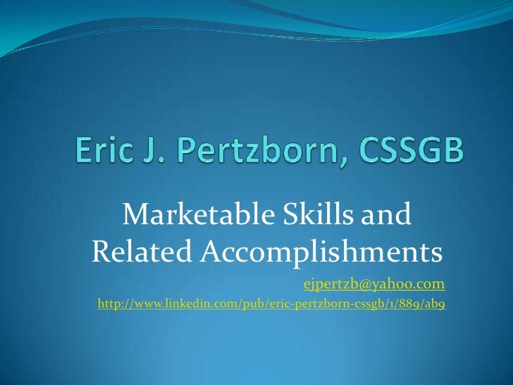 Eric Pertzborn Accomplishments Ii