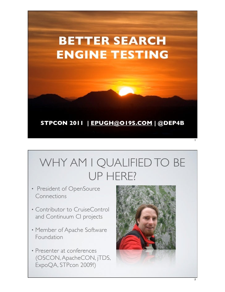 Better Search Engine Testing - Eric Pugh