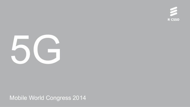 5G Mobile World Congress 2014