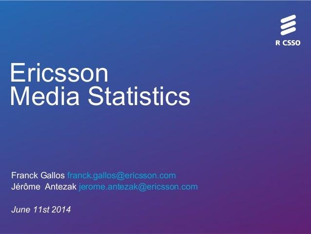 Utilisation d'Hadoop chez Ericsson - HUG France (juin 2014)