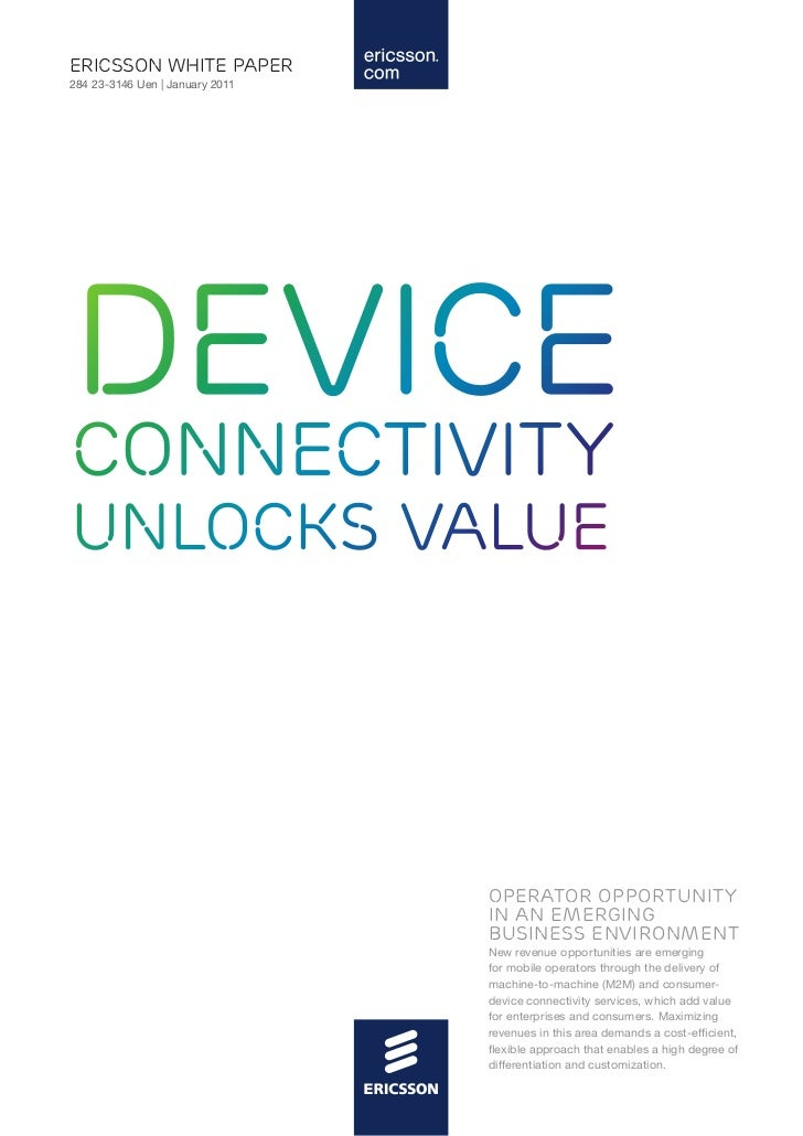 Ericsson white paper - Device connectivity unlocks value