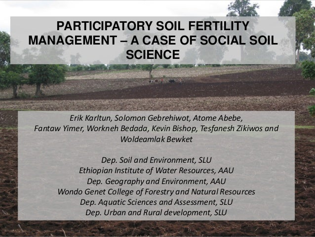 Participatory soil fertility management – a case of social soil science