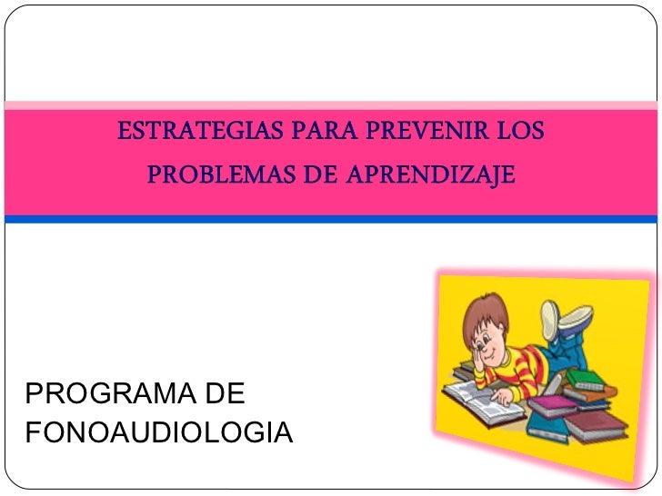 PROGRAMA DE FONOAUDIOLOGIA