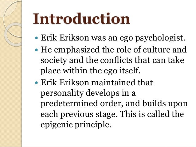 erik eriksons personality theory essay Open document below is an essay on eric eriksons psychosocial stages of personality development from anti essays, your source for research papers, essays, and term paper examples.