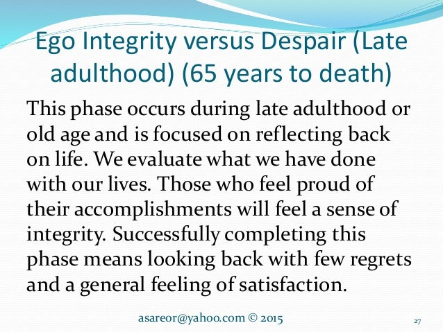 late adulthood essay View essay - late adulthood essay from c ep 110 at nmsu which are all diseases that affect the eyes as we age the skeleton system begins to decrease as well the skin, teeth, hair and locomotion.
