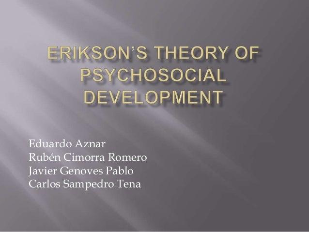 Erikson's theory of psychosocial development