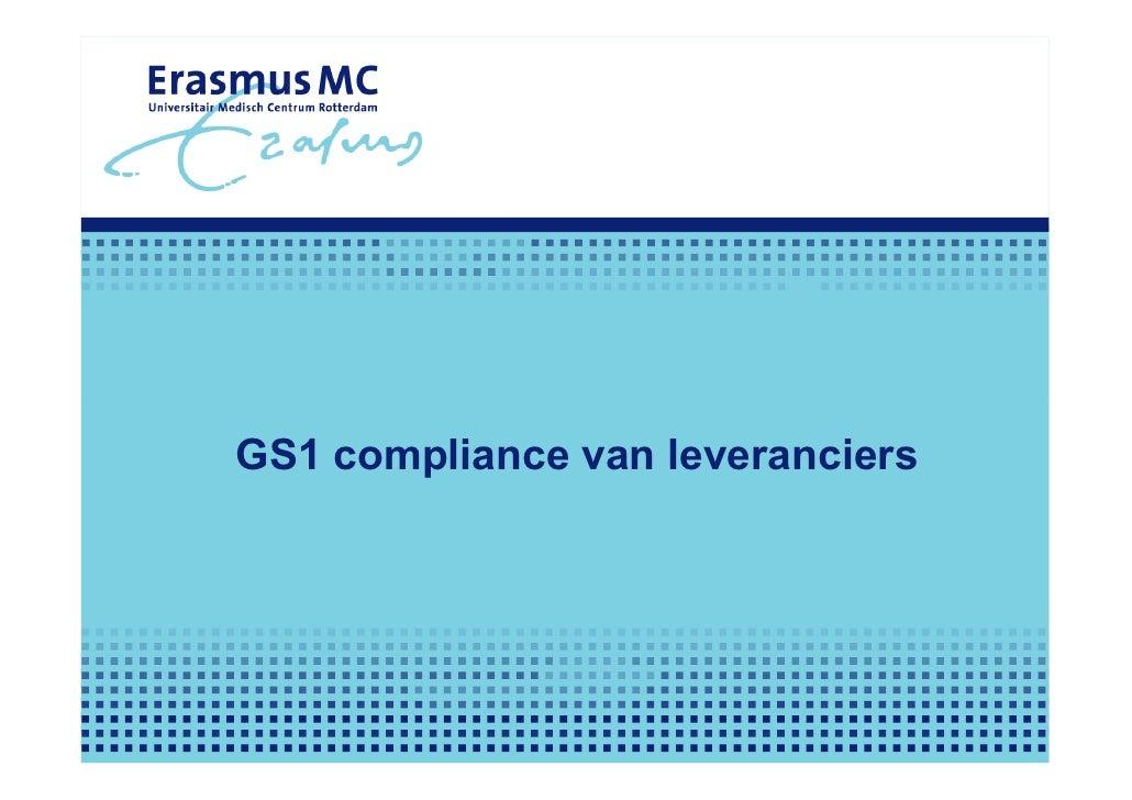 GS1 compliance van leveranciers