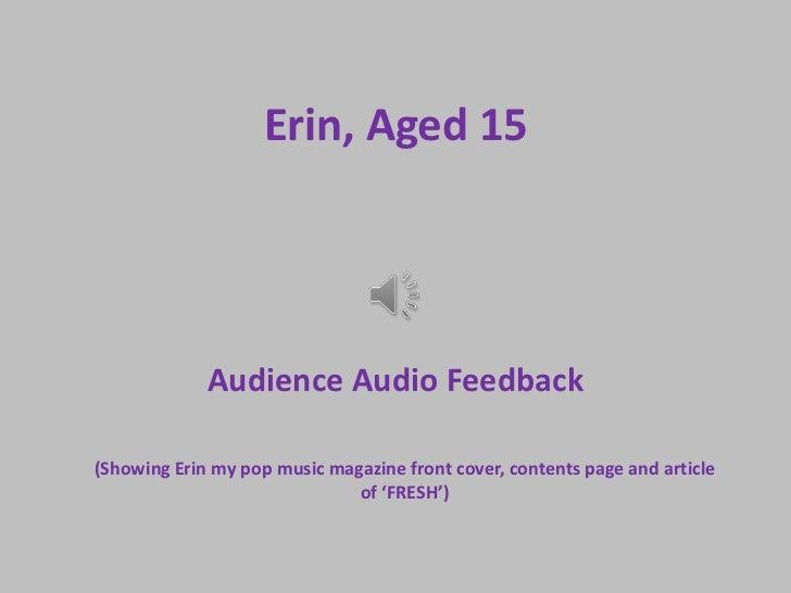 Erin, aged 15