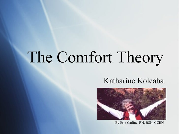 The Comfort Theory          Katharine Kolcaba             By Erin Carline, RN, BSN, CCRN