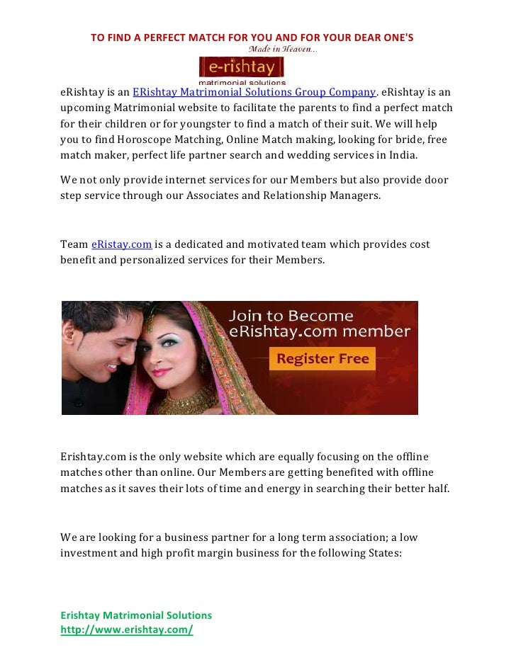 Free Indian Matrimonial Websites – eRishtay