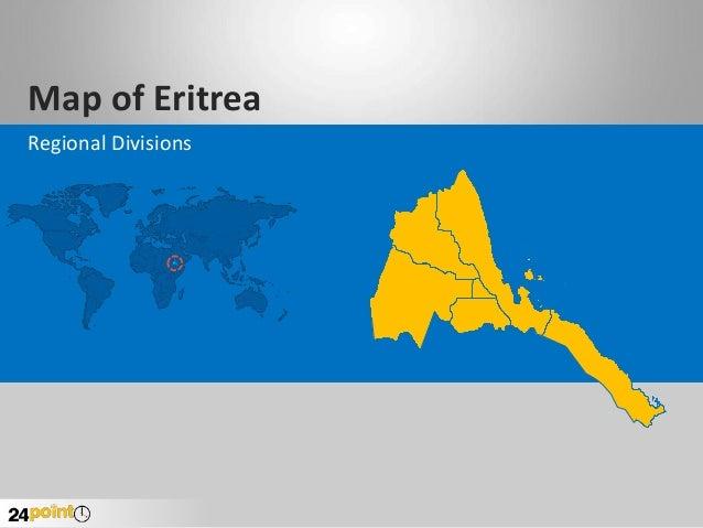 Map of Eritrea Regional Divisions