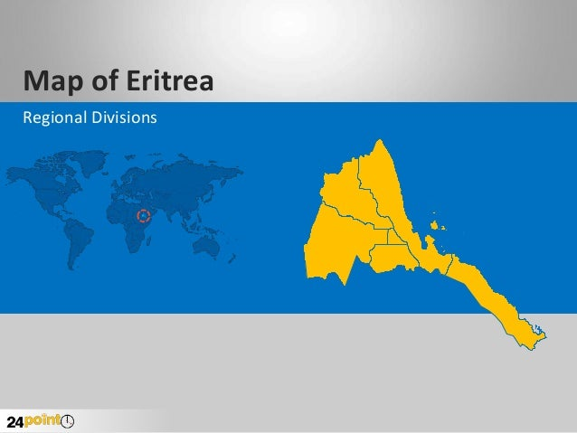 Eritrea Map - Editable PowerPoint Presentation
